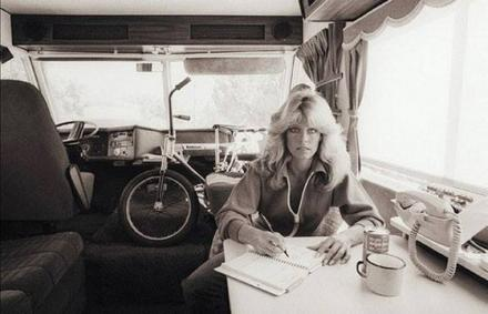 1975 Farrah Fawcett with Kawasaki bike.jpg
